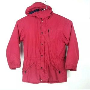 LL Bean Mens Vintage Parka Jacket Removable Hood